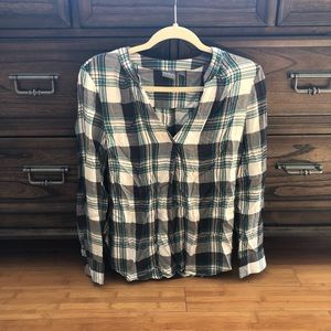 Flannel printed blouse
